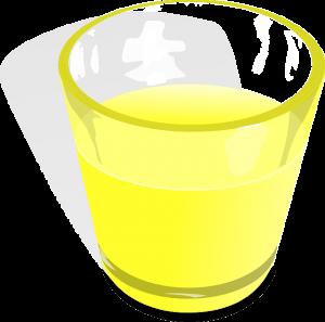 コップ半分オレンジジュース